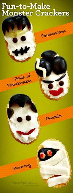Halloween Monster Crackers How-To ~ Fun Snack!