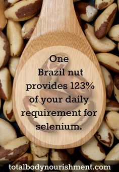 Selenium is a powerful #antioxidant that helps protect the body from heart disease. It is also important for healthy #skin and essential for #thyroid health!  The good news is, you only need ONE Brazil nut to get all of its medicinal benefits!