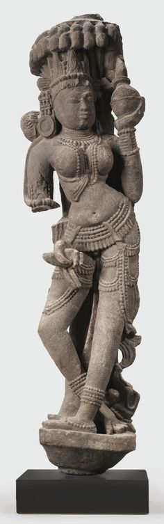 A Red Sandstone Figure of Ganga - Central India, 11th/12th century