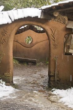 Cob Archway into Courtyard-5 by engageinlife, via Flickr
