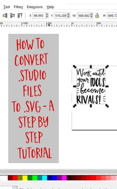 to Convert .studio or to .svg from Silhouette Studio + Free Cut File How to Convert .studio or to .svg from Silhouette Studio by How to Convert .studio or to .svg from Silhouette Studio by Silhouette School, Silhouette Cutter, Silhouette Vinyl, Silhouette Portrait, Silhouette Machine, Silhouette Design, Silhouette Files, Print And Cut Silhouette, Silhouette Cameo Shirt