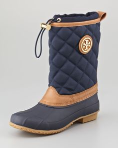 Tory Burch Quilted Rain Boot.