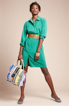 Calvin Klein shirt dress in a glorious, glorious colour. Available from Nordstrom.