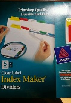 Avery Index Maker Label Divider with 5 Color Tabs - AVE11406 1 set