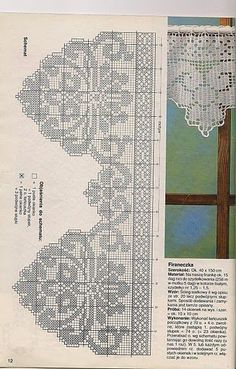 Crochet Curtains - diamondinapril - Álbuns da web do Picasa Irish Crochet Patterns, Filet Crochet Charts, Crochet Lace Edging, Crochet Borders, Tatting Patterns, Crochet Diagram, Crochet Designs, Crochet Doilies, Crochet Kitchen