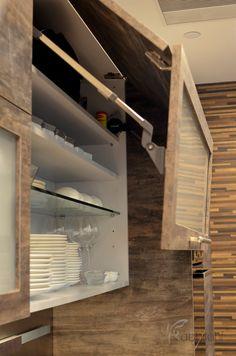 High Tech Design in Rough Texture Laminate Finish Door Front
