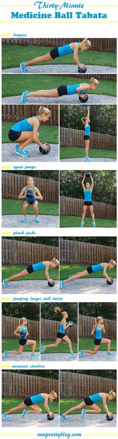 For a medicine ball workout with plenty of jumping.