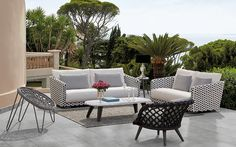 Riviera All Weather Wicker Outdoor Sofas & Lounge Chairs