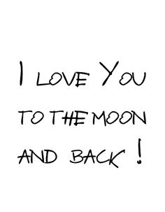 DIY - I LOVE YOU TO THE MOON AND BACK