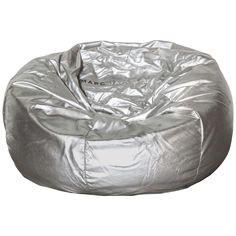 Marc Jacobs Silver Leather Bean Bag | 1stdibs.com