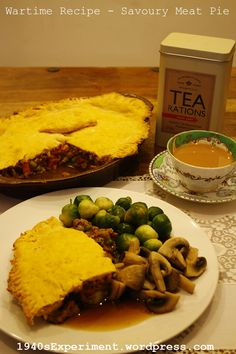 Savoury Meat Pie – Recipe No. 141 – The 1940's Experiment