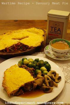 Savoury Meat Pie – Recipe No. 141 – The Experiment Cuban Recipes, Retro Recipes, Vintage Recipes, Pie Recipes, Dinner Recipes, Ethnic Recipes, African Recipes, Linda Mccartney Sausages, Recipes