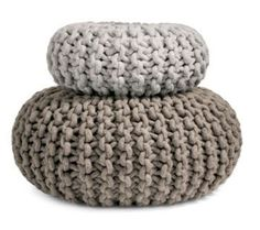 High and Low: Modern Textural Poufs