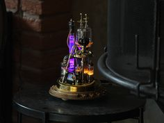 Steampunk Desk, Steampunk Fashion, Cool Lamps, Unique Lamps, Enchanted Home, Copper And Brass, Glass Domes, Lamp Design, Desk Lamp