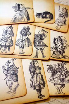 Alice in Wonderland party invitations.