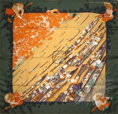 """Marche Flottant du Lac Inle (from <a href=""""http://piwigo.hermesscarf.com/picture?/1225/category/Home"""">HSCI Hermes Scarf Photo Catalogue</a>)"""