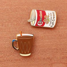 Latest addition to our Kopitiam Brooch series - Evaporated milk. Pair this with…