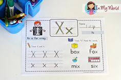 This site has blog posts showing what she did for each letter and then includes downloads of the worksheets she features.