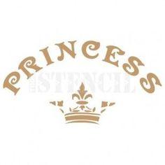 Stencil Deco Vintage Composición 058 Princess Corona
