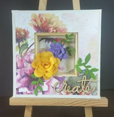 April Artist Team Challenge - Club Scrap | 6x6 canvas. Used back side to create niche.