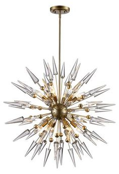 Bel Air Lighting Collins Antique Gold Pendant AG - The Home Depot Sputnik Chandelier, Chandelier Lighting, Chandeliers, Bedroom Lighting, Vanity Lighting, Home Depot, Bel Air Lighting, Lighting Ideas, Outdoor Lighting