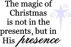 quotes about the magic of christmas | Wall Quote Magic of Christmas | Christmas Quotes