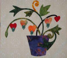 Block 18 - Applique Affair - Edyta Sitar Hand Applique, Wool Applique, Flower Applique, Applique Patterns, Applique Quilts, Applique Designs, Quilt Patterns, Quilting Projects, Quilting Designs