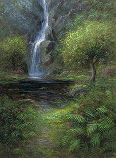 Garden of Eden x 24 LE Signed & Numbered – Giclee Canvas McNaughton Fine Art Company – Garten Eden x 24 LE signiert Bible Pictures, Jesus Pictures, Heaven Pictures, Jon Mcnaughton, Perfect Peace, Garden Of Eden, Christian Art, Christian Quotes, Nature Photos