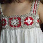 Kumaşla Örgü Kız Çocuk Elbise Modelleri ve Yapılışı 77