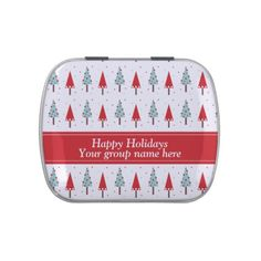 #Christmas Trees Designer Pattern Candy Tins, work great for employees, groups,fundraising and more.