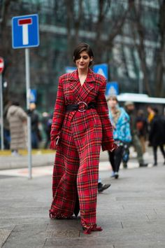 Red plaid dress  | For more style inspiration visit 40plusstyle.com