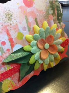 Layered Flower - card on Etsy, $3.25