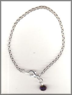 Crystal Bead Silver Plated Bracelet/Anklet(20cm)  by MadAboutIncense - $6.50