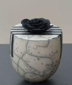 Arlette Carrein - Raku - I think this would work better without the flower on top.