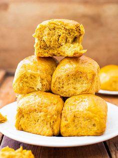 Honey Butter Pumpkin Dinner Rolls - a Thanksgiving feast must have! http://www.ivillage.com/most-popular-thanksgiving-recipes-pinterest/3-a-552882
