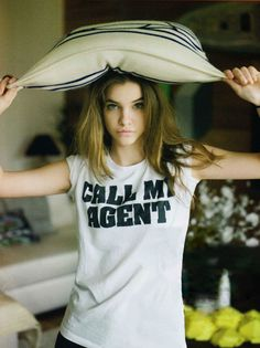 Cheeky! Barbara Palvin in a GREAT shirt