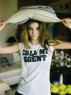 Cheeky! Barbara Palvin in a GREAT shirt