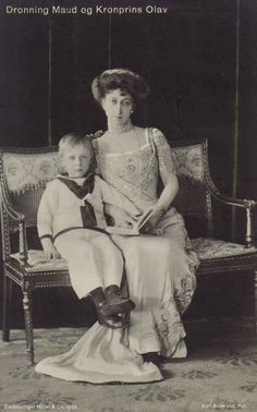 Queen Maud and Crown Prince Olav of Norway.