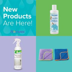 Introducing our NEW 2017 Norwex products! The Mold and Mildew Stain Remover, 4-in-1 Kids Wash, and Kids Towels!