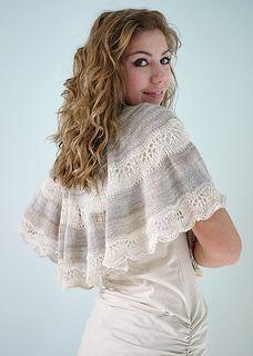 Galatea Shawl by Tori Gurbisz $6 on Ravelry, Lace or light fingering weight yarn