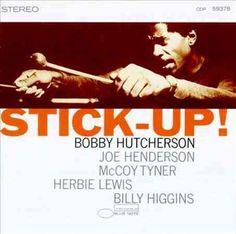 "Bobby Hutcherson ""Stick-Up!: -Reid Miles (Photo by Francis Wolff) Lp Cover, Vinyl Cover, Lp Vinyl, Vinyl Records, Cover Art, Bobby Hutcherson, Blue Note Jazz, Joe Henderson, Francis Wolff"