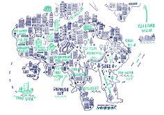 Hong Kong Map - Steph Marshall Illustration