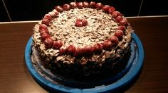 Home made swarzwalder kirsch cake