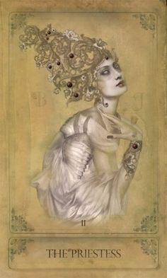 The High Priestess, Sepia Stains Tarot. Interesting style - might have to check it out!