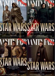All the Vanity Fair Star Wars: The Last Jedi covers