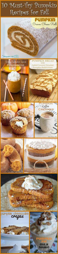 10 MUST-TRY pumpkin recipes for Fall! Must try one once a week on my cheat days :)