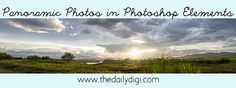 Panoramic Photos in Photoshop Elements