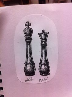 #pointilism #chess #king and #queen #blackandgrey