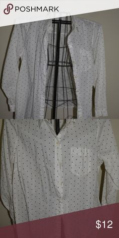 0ba507eebbd polka dot button down white button-down with black polka dots. Old Navy