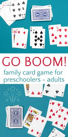 Fun and easy family card game perfect for family game night. Great for all ages and skill levels so everyone in the family can join in the competition. Family Card Games, Card Games For Kids, Kid Games, Games For Toddlers, Games To Play, Bonding Activities, Kids Learning Activities, Family Activities, Fun Learning